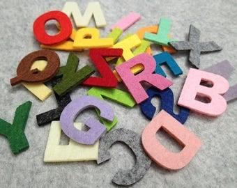 Mixed Assorted Colour Alphabet Felt