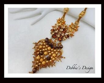 Women's Hand Beaded Necklace-512 Women's Beaded Necklace, Women's Collar Necklace, Bib Necklace,  Women's Jewelry, Handmade Necklace