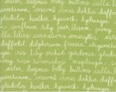 Olive's Flower Market - Floraculture in Green by Lella Boutique for Moda Fabrics