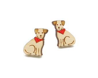 Jack russell terrier earrings ~ laser cut dog stud earrings