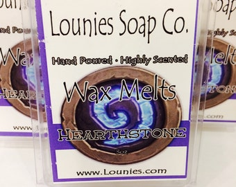Hearthstone | Wax Melt |  Scent | 3oz | Highly Scented | Soy Blend | Fragrant | Handcrafted | Hand Poured | Wax Warmer | WoW | Tart | Melt