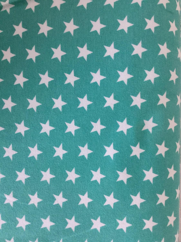 Stars jersey small star fabric aqua stars star fabric for Star fabric australia
