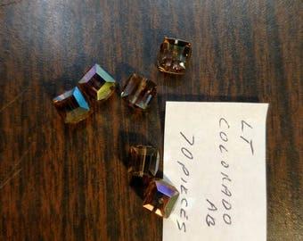 8mm Swarovski Crystal cube 1pc
