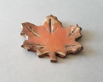 Maple Leaf Mini Spoon Rest Iron Red Miniature Coffee Tea Bag Holder