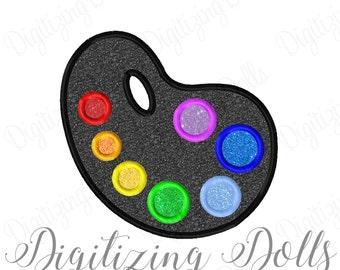 Paint Color Palette Applique Embroidery Design 4x4 5x7 6x10 Art Artist Painter Painting INSTANT DOWNLOAD