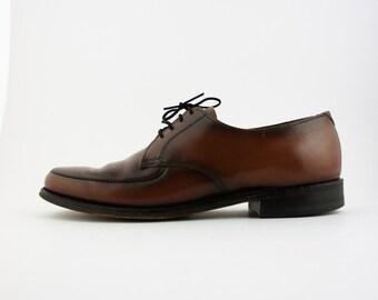 Vintage Coburne Square Brown Leather Dress Shoes - Men's 9.5 D