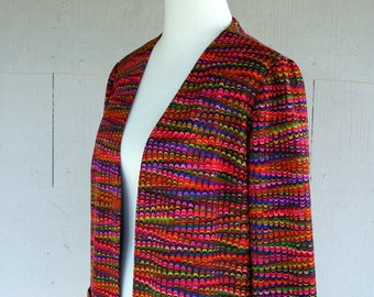 Vintage Jacket / 60s Psychedelic Blazer / Small