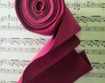 "Vintage Magenta Ribbon, 4"" High x 4 Yards, Cotton Rayon Grosgrain"