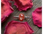 Sterling Silver Sunstone Ring Size 7 Gemstone 925 Jewelry Sun Stone