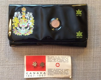 Canada Centennial Wallet and pins