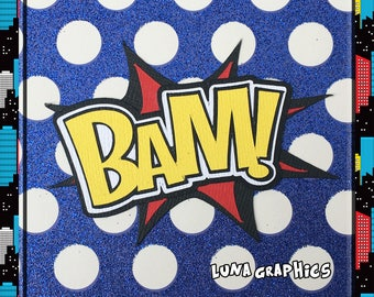 BAM Comic Book Words Embellishments Paper Piecing card making and scrapbooking