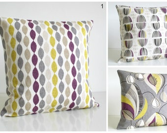 Purple Pillow Cover, Purple Cushion Cover, Cotton Pillow Sham, 10x10 Pillowcase, Scatter Cushion Cover - Aubergine Collection