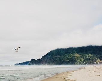 Manzanita Beach III - Fine Art Photograph, Ocean, Beach, Sea, City, Oregon, Travel Photography, Wall Art, Room Decor