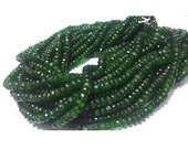 ON SALE 55% Green Tourmaline Beads, Faceted Rondelle Beads, Faceted Green Tourmaline, 4mm To 6mm Beads, 8 Inch Half Strand,100 Pieces