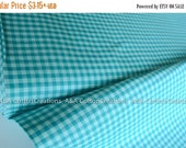 ON SALE ORGANIC Rain Turquoise Plaid Cotton Fabric,Quilting Fabric, Yarn Dye Fabric, Apparel Fabric, Checks Please Collection from Cloud9 Fa
