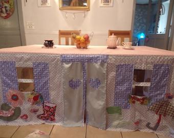 Custom made Tablecloth Playhouse - Cars, Cats, HEARTS, Hats 'n' Wellington Boots