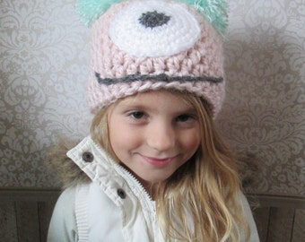 Chunky Pink Monster Hat