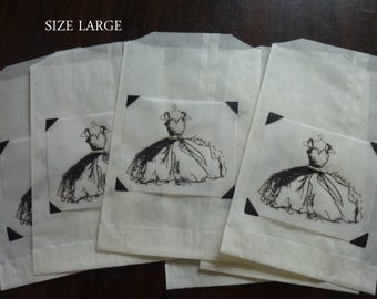 All Occasion Favor Bags - Dress with Glitter Favor Bags