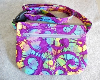 Hip Bag - Colorful Batik Swirls