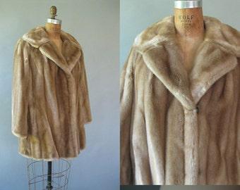 Vintage Tissavel Faux fur Jacket -1960s Honey Blonde Coat - Plus Size