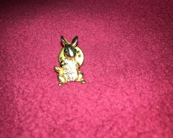 Small Gold Filled Bunny Pin
