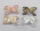 SALE - Ear Cuff, Spirals Ear Cuff, Custom Ear Cuff