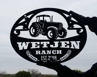Tractor Farming Scroll Sign LMW-16-84