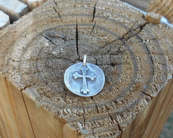 Cross Charm - Cross Pendant - Sterling
