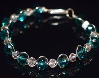 Crystal Wire Wrapped Bracelet