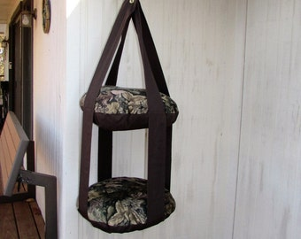 Cat Bed, True Timber Harvest Camouflage Leaf Print, Double Hanging Cat Bed, Kitty Cloud Cat Bed, Pet Furniture, Gift
