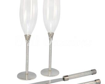 Unik Occasions Toasting Glasses & Cake Serving Set
