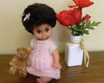 "Vintage Girl Doll - 12"" Burbank Toys Doll - 1960s Doll - Sleeping Eyes"