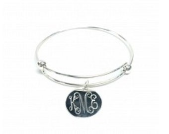 monogram gold or silver bracelet Valentines gift bridesmaids personalized great gift for bridesmaids mom teachers grads