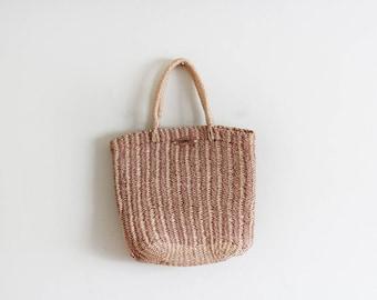 Vintage Woven Esprit Basket Bag / Market Bag / Raffia Bag