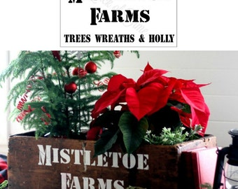 Christmas Sign Stencil - Mistletoe Farms DIY home decor Vintage Sign  Home Decor Vintage Sign Stencils