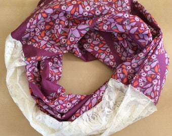 Voile and Lace infinity scarf - Anna Marie Horner Voile and ivory lace
