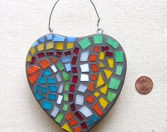 Heart, Love, Wedding, Shower, Wall Hanging, Ornament, Picasso, Nursery, Gift, Home Decor, Original Art, Mosaic