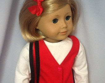 18 Inch Doll Clothes Red Jumper, T Shirt, Purse, Shoes and Socks