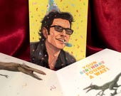 JURASSIC PARK Birthday Card with Ian Malcolm!