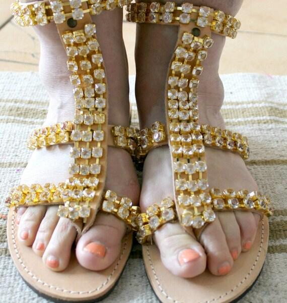 Leather  sandals , greek gladiators