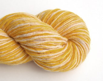 Super Bulky Cashmere Recycled Yarn, Yellow, Lot 010517