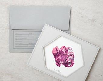 Letterpress Gemstone Greeting Card