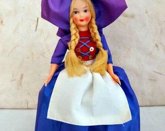 French Alsatian costume doll, folk doll, vintage, France, Alsace, convert, vintagefr