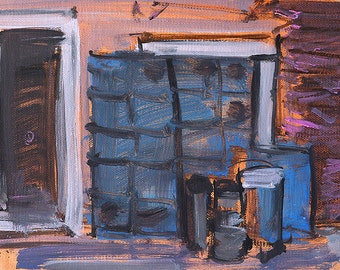 Kegs in Venice, Italy Painting Original