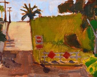 San Diego Plein Air Landscape Painting- Grant Hill