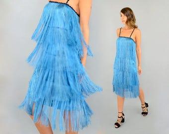 60's Fringe Flapper Dress