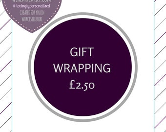 Enhance your Gift, Add Gift Wrapping to your We Heart cards Order