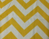Chevron - Yellow - Canvas -5 yards