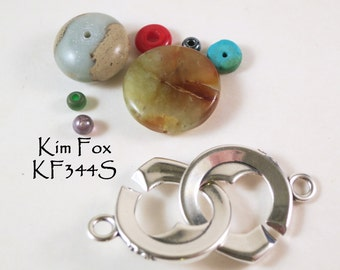 Heart Shaped Sister Hook Clasp in Sterling Silver by Kim Fox - Secure and Simple