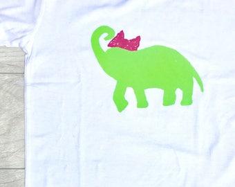 Children - Green - Elephant - Animal - Jungle - Toddler T-Shirt or Baby Onesie